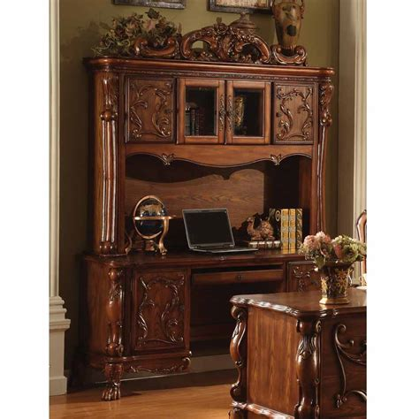 Dresden Traditional Antique Computer Desk Hutch Carved Antique Oak Desk With Hutch