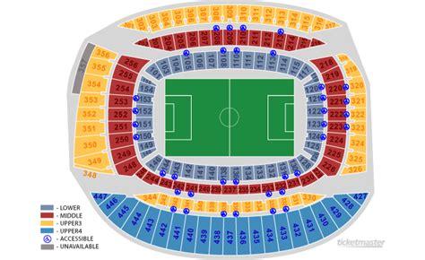 estadio azteca detailed stadium seating icc manchester united vs germain in chicago