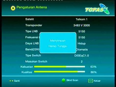 Topas Tv Dekoder Dan Parabola topas tv seting decoder dan program chanel