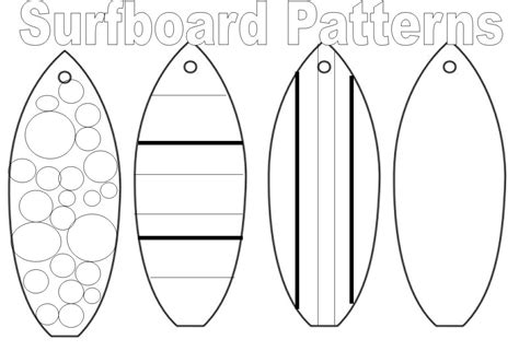 Coloring Book Pages Surfboard L