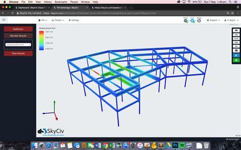 design frame software skyciv structural 3d cloud structural software
