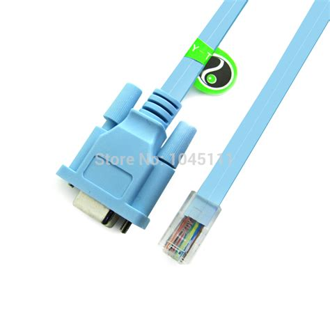 Kabel Router Rj45 To Serial Db9 9 Pin Rs232 Port Cbl Db9 By Wahacc 1 new rj45 to serial db9 9 pin rs232 port adapter cable for cisco huawei router