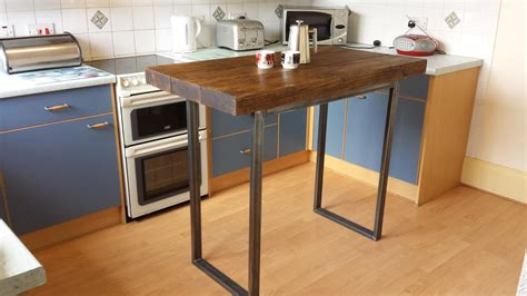 Kitchen With Bar Table Rustic Breakfast Bar Table Kitchen Island By Redcottagefurniture