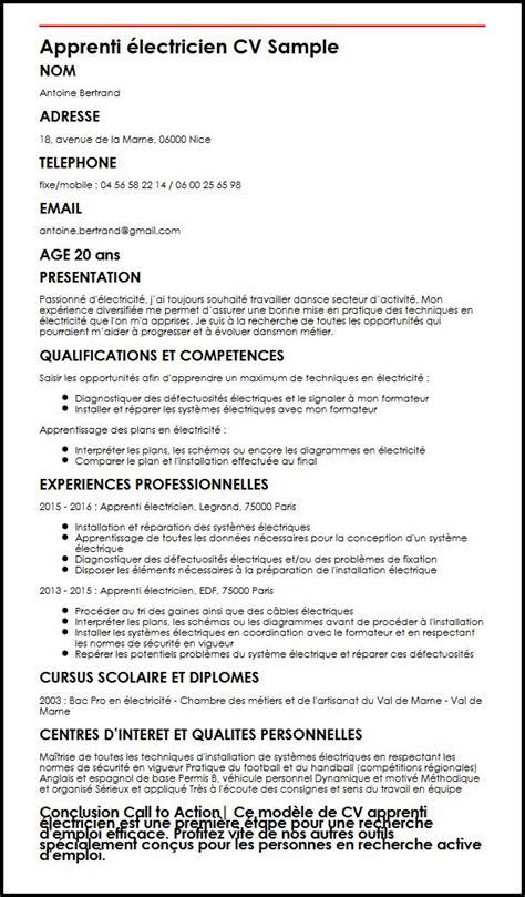 Lettre De Presentation Québécoise Modele De Cv Apprenti Electricien Moncvparfait