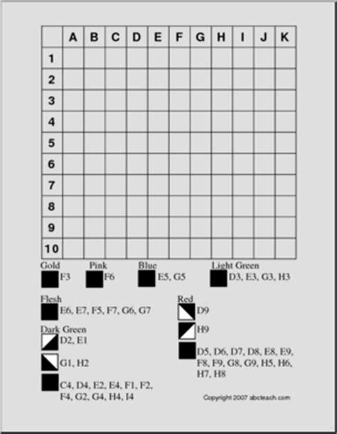 halloween grid coloring pages grid coloring leprechaun medium abcteach