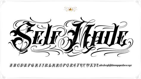 self made tattoo design self made lettering stock vector illustration of