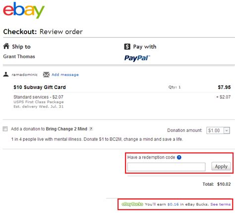 How To Use Gift Card On Ebay - get 8 cash back on every ebay item you buy