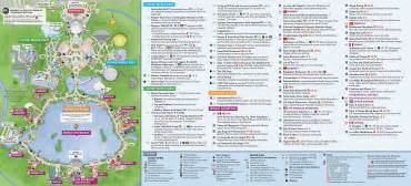 epcot florida map updated epcot map