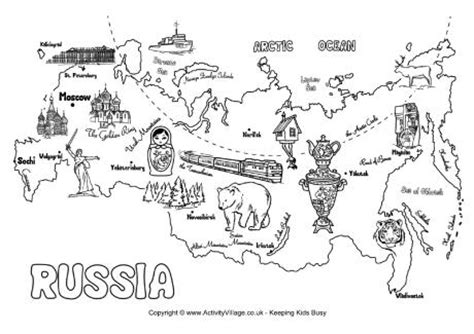 coloring page map of russia western russia map coloring page coloring pages