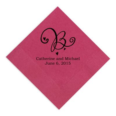 Personalized Napkins - decorative initial wedding napkins personalized wedding