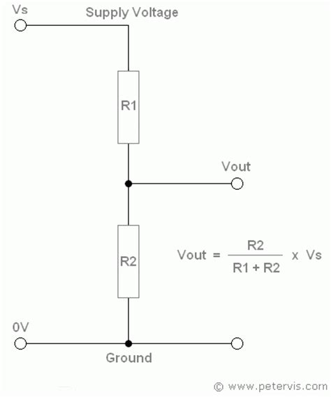 voltage divider circuit pull up resistor potential divider