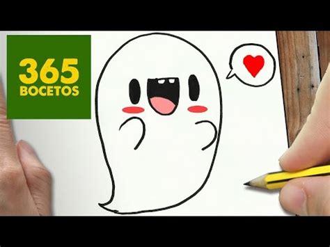 imagenes de monstruos faciles para dibujar como dibujar un fantasma kawaii