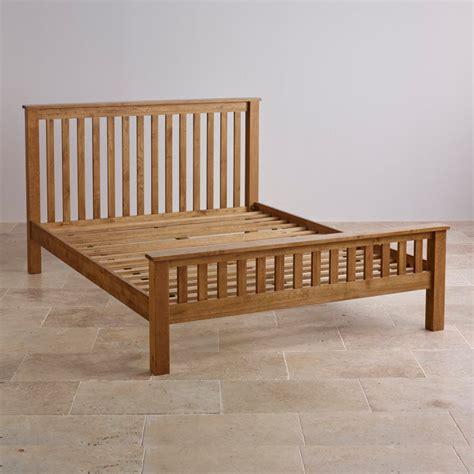 rustic king size bed original rustic king size bed in solid oak oak furniture