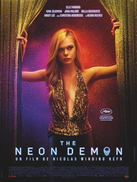 The Neon Demon New Posters | neon demon new poster elle fanning peeks behind the
