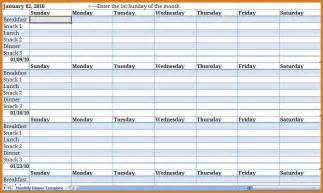 Monthly Schedule Template by Monthly Schedule Template Notary Letter