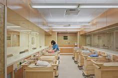 Shore Lij Emergency Room by Circular Recessed Fluorescent Overhead Lights Mimic The