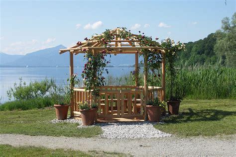 pavillon rundholz pavillons und pergolen aus holz perr blockh 228 user