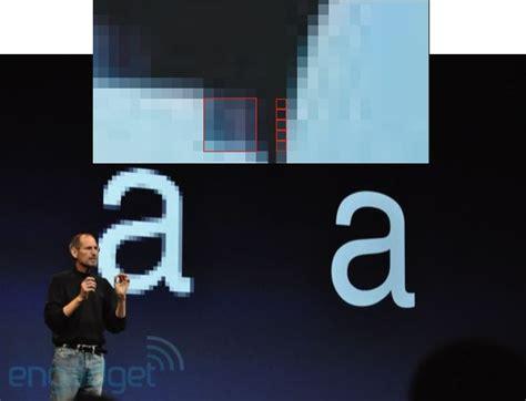 iphone  retina display faked  steve jobs gadget review