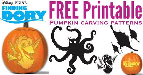 printable pumpkin stencils moana free finding dory pumpkin carving patterns to print