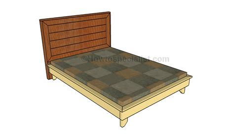Full Size Platform Bed Plans Howtospecialist How To Size Bed Frame Plans