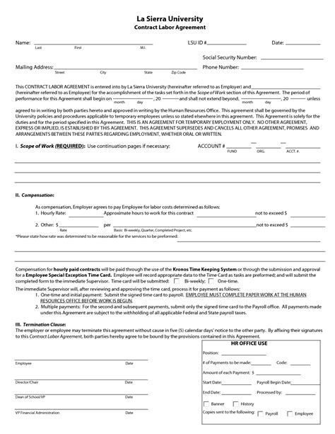 sle contractor agreement template labor agreement template 28 images agreement form