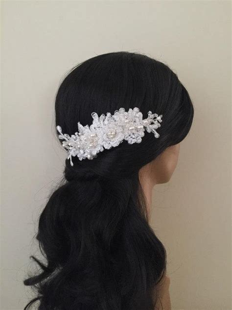 Wedding Hair Accessories Lace by Bridal Hair Accessories Wedding Ivory Lace