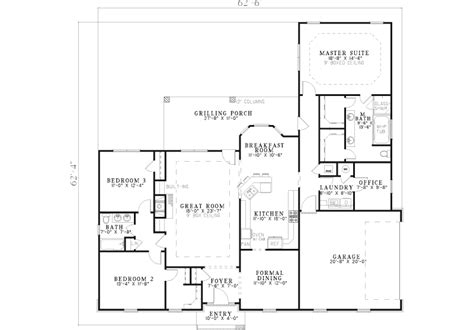 kaplan brick ranch home plan 055d 0576 house plans and more