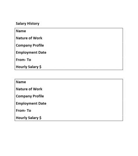 19 Great Salary History Templates Sles ᐅ Template Lab History Template