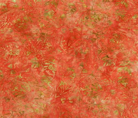 Batik Patchwork Fabric - quilting patchwork sewing fabric batik coral salmon