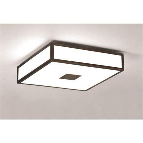 medium bathroom flush mount light ceiling fitting mashiko square flush bathroom ceiling light opal glass bronze trim