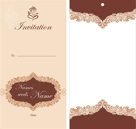 layout of a wedding card wedding card design free vector in encapsulated postscript