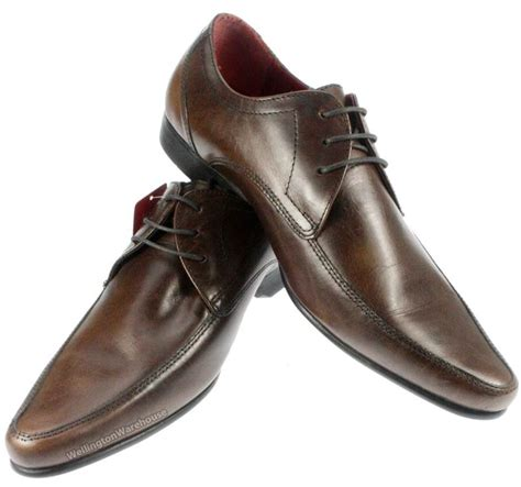 formal mens redtape hollins brown leather lace up
