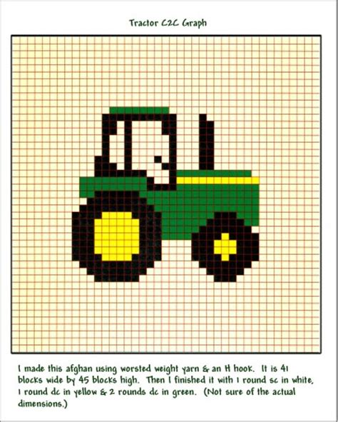 Motif Jd deere graphgan knit crochet graphgan pixel