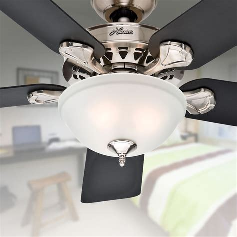 waldon ceiling fan shop waldon 5 minute 52 in brushed nickel downrod