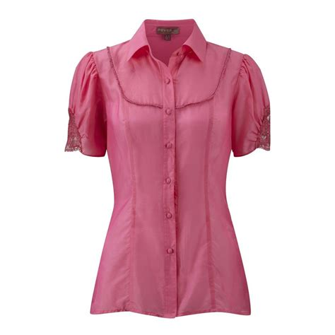 Blouse Top Pink fever lydia blouse pink tops from lovarni uk