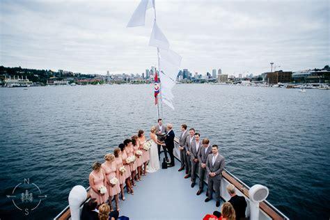wedding on a boat seattle neal and saskia photography seattle wedding