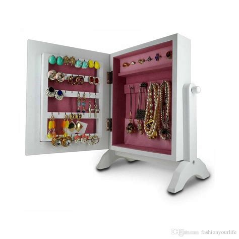 2017 tabletop mini jewelry box wooden jewelry armoire box