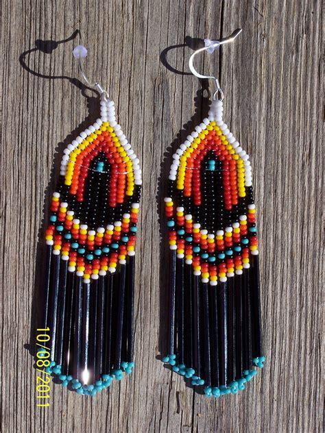 Beaded Fringe Earrings american beaded fringe earrings 19 99 via etsy