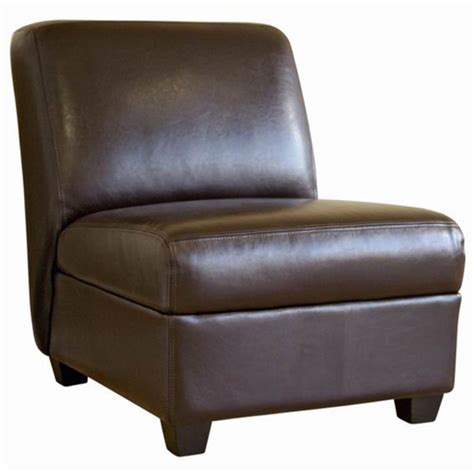 armless faux leather chair crate and barrel axis leather armless chair decor look