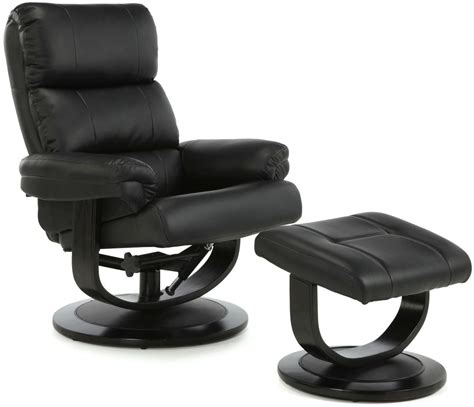faux leather recliner chairs buy serene horten black faux leather recliner chair online