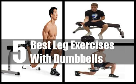 5 best leg exercises with dumbbells best dumbbell