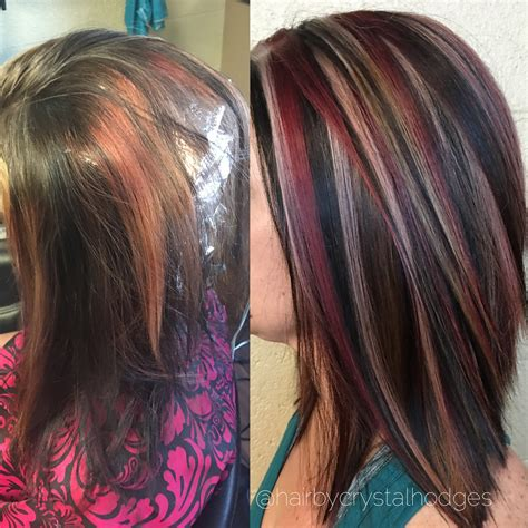 hairstyles with brown hair and blonde highlights blonde red brown hair color chunky highlight hair by