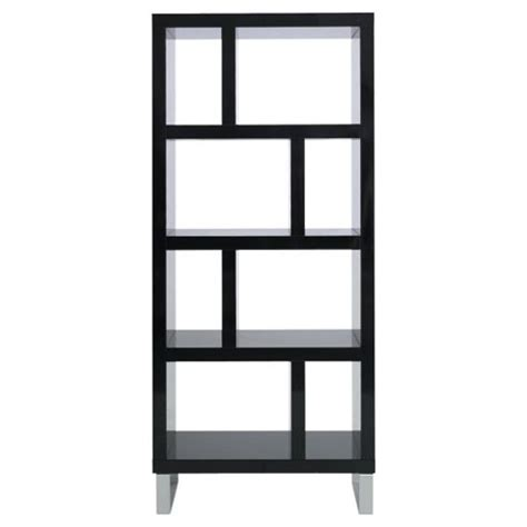 Buy Black Bookcase Buy Costilla 4 Shelf Bookcase Black Gloss From Our