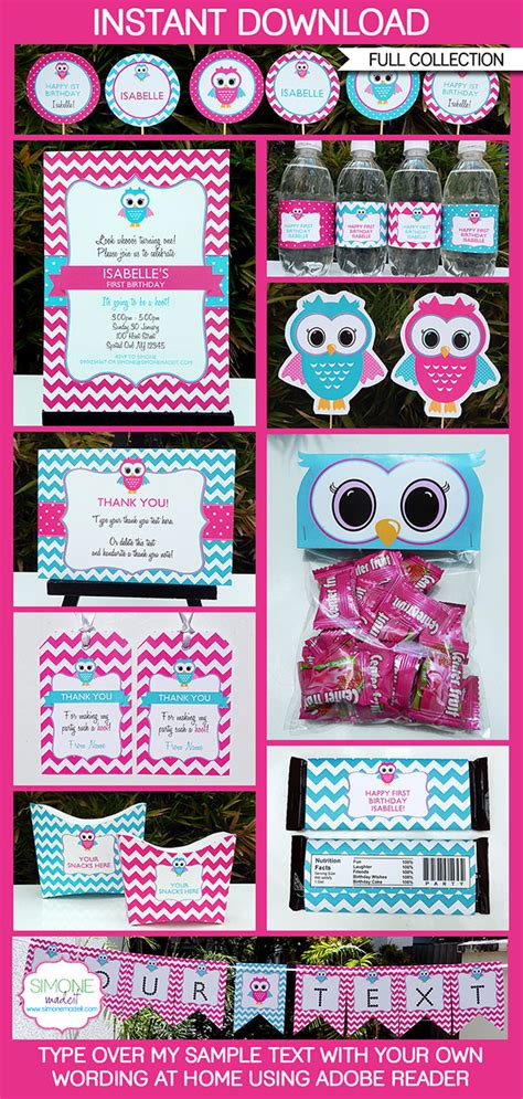 printable owl party decorations owl party printables invitations decorations