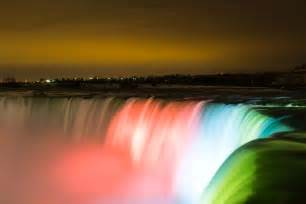lights niagara falls ontario colored lights on the cascade of niagara falls