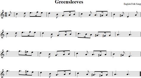 new year song for violin greensleeves free violin sheet