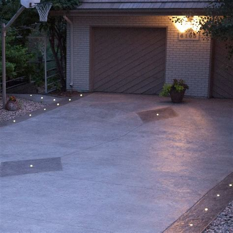 led lights in concrete outdoor recessed dek dot led light kit dekor 174 lighting