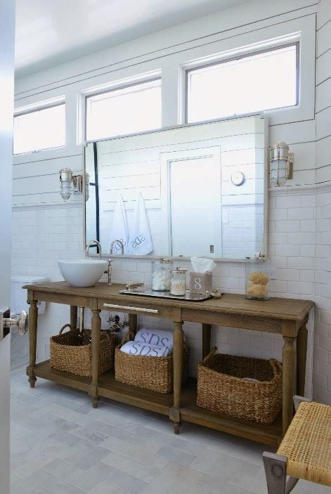 bathroom console tables repurposed washstand cottage bathroom munger interiors