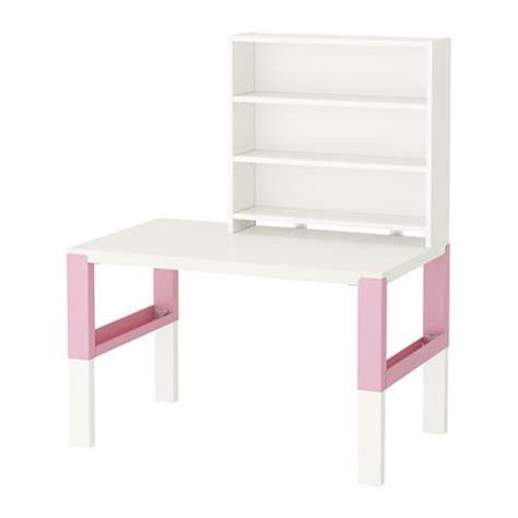 ikea pahl p 197 hl bureau avec tablette blanc rose ikea