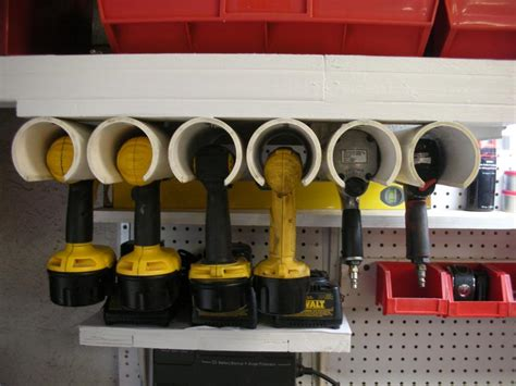 Garage Storage Ideas Tools Diy Power Tool Organizer Tutorial Using Pvc Pipe